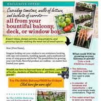Edible Balcony Email