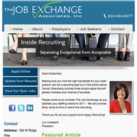 The Job Exchange Email