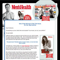 Men's Health Subscription Email